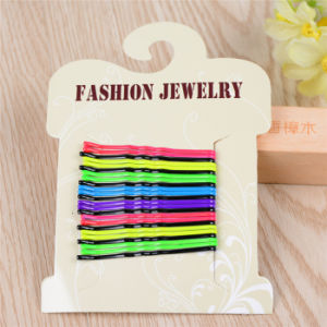 24 Pieces Card Packed 5cm Wave Ball Tip Hairpins (JE1018-1) pictures & photos