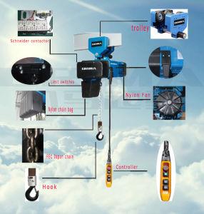 Brima Good Quality European Style 250kg Electric Chain Hoist pictures & photos