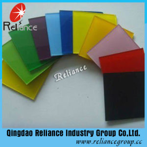 4mm Yellow Painted Glass / Baking Glass (Black, Green, White, Yellow, Blue) pictures & photos