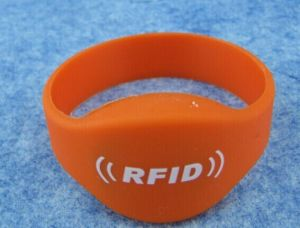 13.56MHz M1s50 Smart Silicone Nfc Wristband
