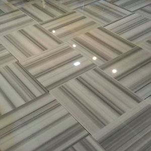 Straight Veins White Marble Flooring pictures & photos