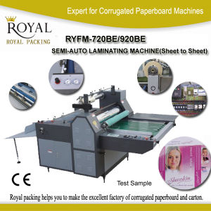 Ryfm-720b/920b Semi-Auto Laminating Machine (Sheet to Sheet) pictures & photos