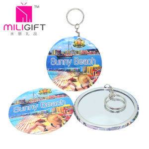 Metal Keychain Photo Print with Make up Mirror pictures & photos
