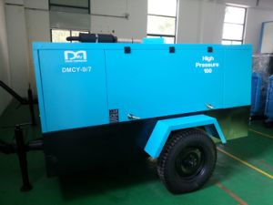 Trailer Mounted Portable Double Rotor Diesel Engine Rotary Screw Air Compressor pictures & photos