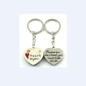 Heart Engraved Logo Keychains, Metal Key Ring (GZHY-KA-032) pictures & photos
