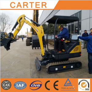 CT18-9ds (0.04m3 bucket&retractable chassis) Mini Excavator with Cabin pictures & photos