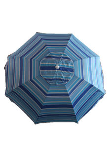 Large Beach Umbrella, Sripe Po; Yester Umbrella, Polyester with Silver pictures & photos