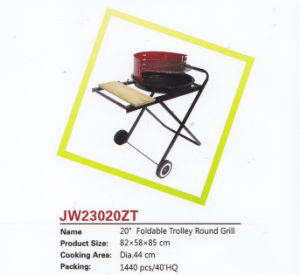 "20"" Foldable Trolley Round Grill pictures & photos"