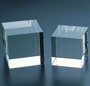 Transparent K9 Crystal Block 3D Laser Engraved Crystal Cube for Color Print pictures & photos