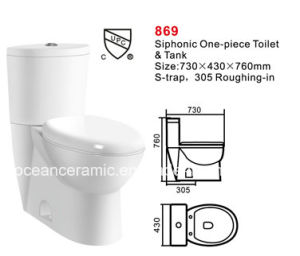 869 Ceramic Siphonic Two-Piece Toilet, Sanitary Ware pictures & photos