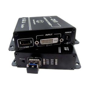 4k DVI Kvm Extender Over Optical Fiber 1080P DVI/USB/HDMI Extender Optional pictures & photos