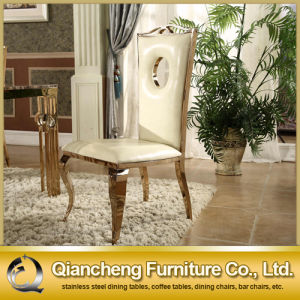 Factory Price Golden Stainless Steel Banquet Chair pictures & photos