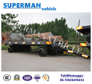 50t Heavy Duty Utility Flatbed Cargo Transport Industrial Drawbar Tractor Trailer pictures & photos