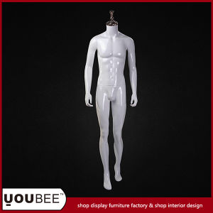 Glossy White Headless Male Fiberglass Mannequin pictures & photos