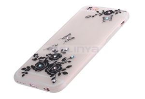 Super Thin Soft TPU Flashing Luminous Classical Spring Flower Butterfly Case for iPhone 6 6s 5 Plus pictures & photos