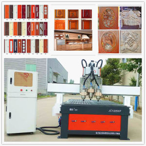 Wood Door Machine Production Line / 9kw Italy Hsd Spindle CNC Wood Cutting Machine pictures & photos