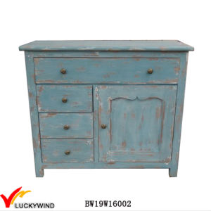 Fuzhou Furniture Factory Distressed Stained Wood Cabinet pictures & photos