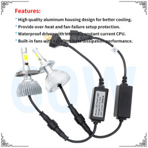 Super Bright 3800lm COB Car LED Headlight Fome The Factory with Wholesale Price LED Light and LED Bar Light pictures & photos