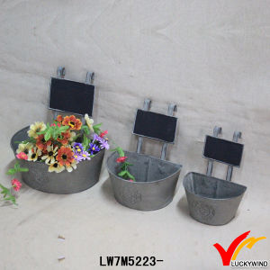 Vintage Metal Zinc Outdoor Flower Pots with Message Board pictures & photos