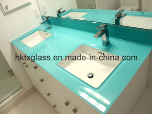 Painted Glass Vanity Top with En12150 and ANSI Ceriticate pictures & photos