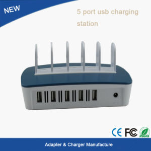 5-Port USB Charging Dock Station Charger Holder Stand for iPhone/iPad/Android Cell Phone pictures & photos