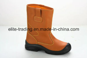 Yellow Leather Safety Boots with CE Certified