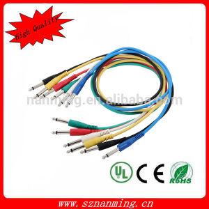 "1/4"" 6.35mm Trs Male to Male Patch Cable pictures & photos"