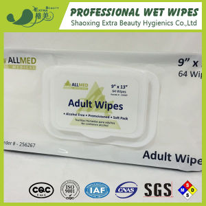 64PCS Adult Wipes with Aloe Vera and Lanoline pictures & photos