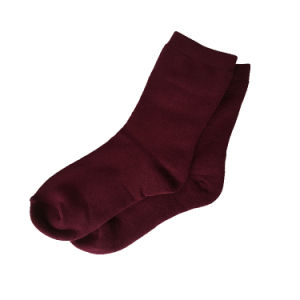 Red Cotton Terry Socks, S103