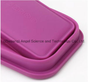 750ml Collapsible Silicone Food Bento Box FDA Approved Sfb02 pictures & photos
