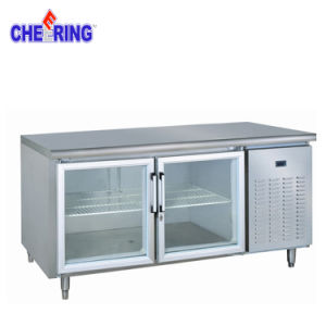 Glass Door Stainless Steel Workbench Chiller pictures & photos