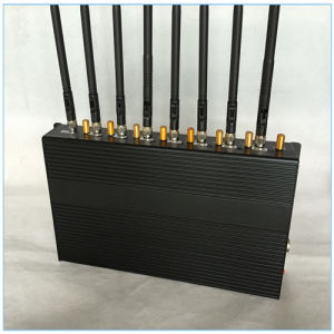 Eight Bands Signal Blockers Jamming for 2g+3G+4G+2.4G+CDMA450+Remote Control, Adjustable Output Power Signal Jammer with 8 Antennas (CPJN8) pictures & photos
