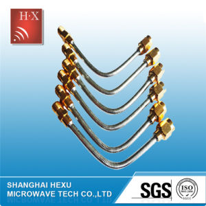 Low Loss Semi Flexible RF Cable From Hexu Microwave pictures & photos