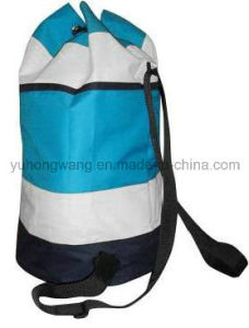 Promotional Polyester Round Duffer Drawstring Bag pictures & photos