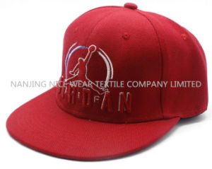 Fashion Snapback Cap with Embroidery Flat Brim