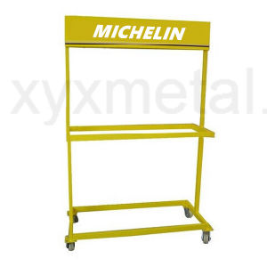 Rolling Movable Tyre Metal Exhibition Stand Tire Display Rack pictures & photos