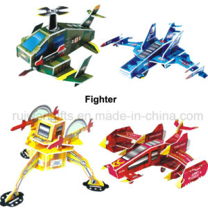 Wholesale Fighter Paper 3D Puzzle for Kids Intelligent Toy pictures & photos