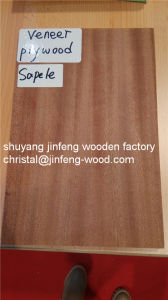 High Quality 2.5mm/4.5mm/7.5mm/11mm/14mm/17mm Sapeli Veneer MDF pictures & photos