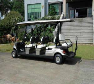 Four Wheels Folded Back Seats Electric Sightseeing Cart (LT-A627.6+2) pictures & photos