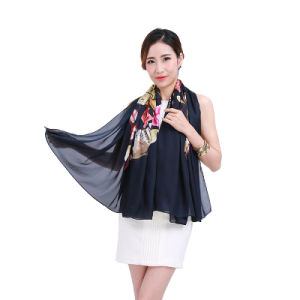 Hot Sell Printed Large Square Scarf with Multi Colors pictures & photos