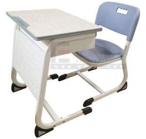 Hot Sale Wooden School Student Double Desk and Chair pictures & photos