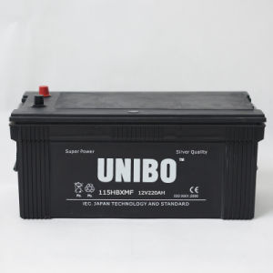 Truck Battery 115hbxmf Maintenance Free 12V220ah High Quality JIS Car Battery pictures & photos