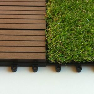 Interlocking Grass Tiles High Density Turf Non-Filling Sports Fake Grass pictures & photos