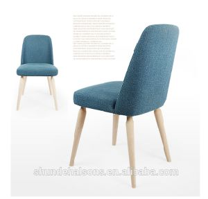 2016 Factory Supply Fabric Cushion Dining Chair with Wood Leg (DC022) pictures & photos