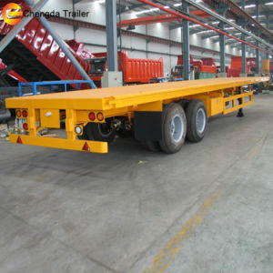 2 Axle 40FT Flatbed Semi Trailer Chassis for Sale pictures & photos