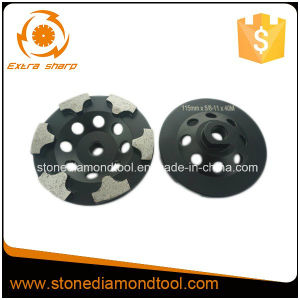 115mm T Segment Concrete Grinding Diamond Cup Wheel pictures & photos