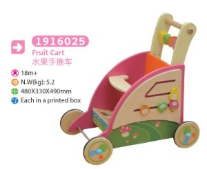 Multifunctional Wooden Cart Push Along Cart Toy Box Toy Cart Wooden Toy pictures & photos