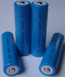 Rechargeable 2200mAh 18650 Lithium Battery pictures & photos