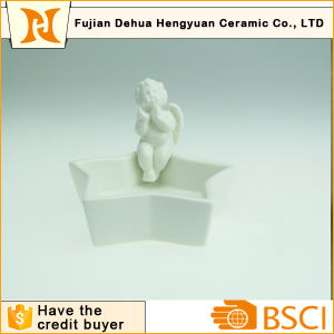 Ceramic Angel Figurine Decoration Candy Dish pictures & photos