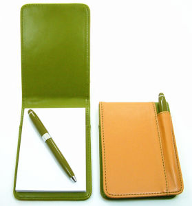 Small Leather Pocket Diary with Pen Hoop pictures & photos